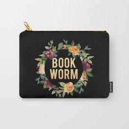 Autumn Bookworm - Black Carry-All Pouch