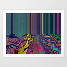 Beneath the ground Art Print