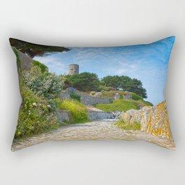 Once Upon a Guernsey Path Rectangular Pillow
