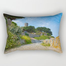 Once Upon a Guernsey Path Rectangular Pillow