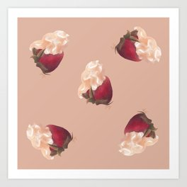 Strawberry Clouds Art Print