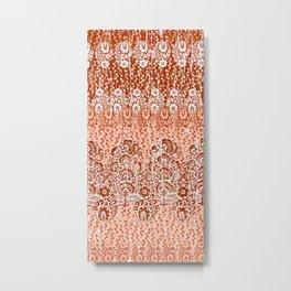 paisley floral in earth Metal Print