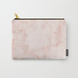 Marble Peach Blush Carry-All Pouch
