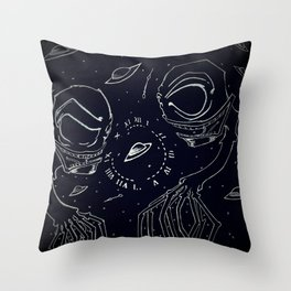 Space Spuds Throw Pillow