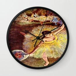 Dancer with Bouquet by Edgar Degas Wall Clock