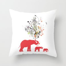 Me and my friends Throw Pillow