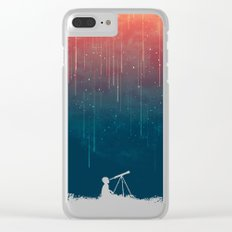 Meteor rain Clear iPhone Case