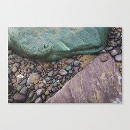 Green and Purple Beach Canvas Print