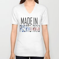 puerto rico V-neck T-shirts featuring Made In Puerto Rico by VirgoSpice