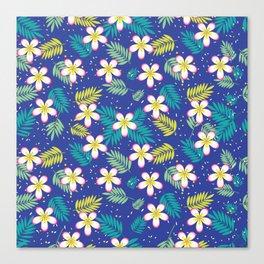 Hawaiian Flowers Aloha Pattern Canvas Print