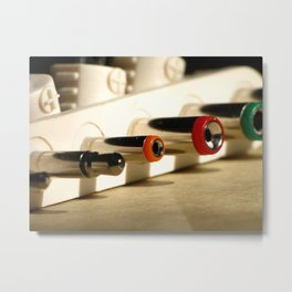 Colorful Electronic Adapters Metal Print
