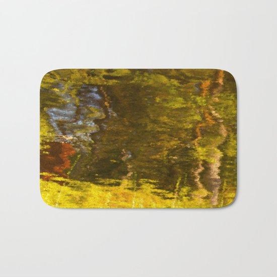 Abstract reflection I Bath Mat