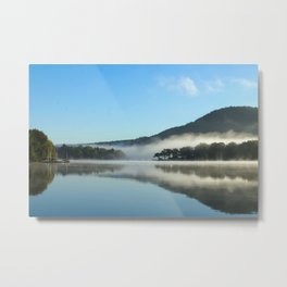 Mirror in the Mist Sunrise Metal Print