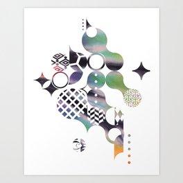70s Spiral Pattern - Pride Art Print