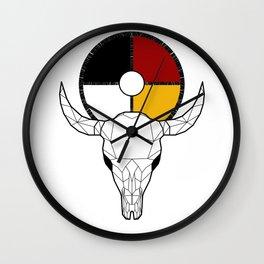 Buffalo Medicine Wall Clock