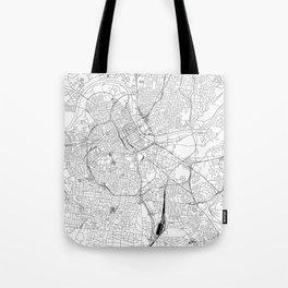 Nashville White Map Tote Bag