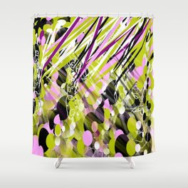 Light fluids Shower Curtain
