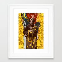 klimt Framed Art Prints featuring Klimt  by Nicolae Negura