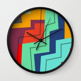 ColorBlock IV Wall Clock