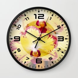 Close up Orchid #8 Wall Clock