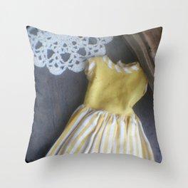 Yellow Dress TTV Throw Pillow