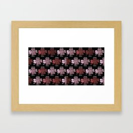 Four Leaf Clover Pattern Framed Art Print