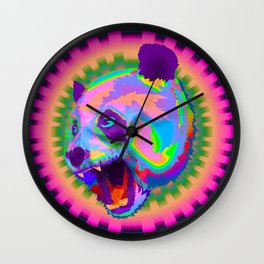 Prismatic Panda  Wall Clock