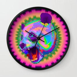 Prismatic Panda  Wall Clock