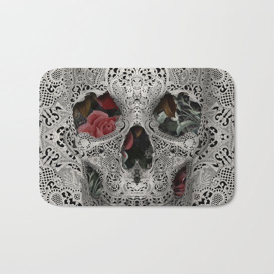 Lace Skull 2 Bath Mat
