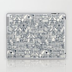 retro circus indigo ivory Laptop & iPad Skin