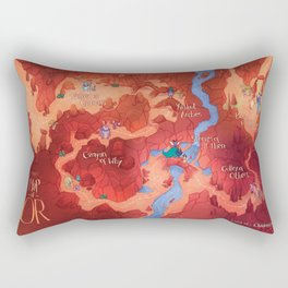 Land of OR Map Rectangular Pillow