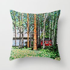 The Escape Hut Throw Pillow