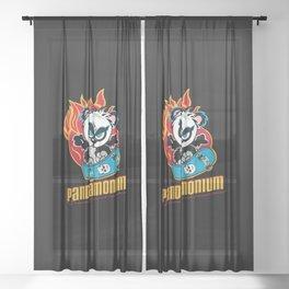 Panda Sheer Curtain