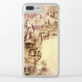 Vintage Columbian Exposition Souvenir Artwork Clear iPhone Case