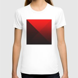 red triangle luminosity with cross fading T-shirt
