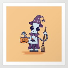 Ned's Halloween Witch Art Print