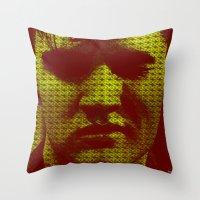 elvis Throw Pillows featuring Elvis by Ganech joe