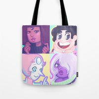 enerjax Tote Bags featuring Sweater Gems by enerjax