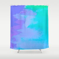 little mermaid Shower Curtains featuring Little Mermaid by HollyJonesEcu