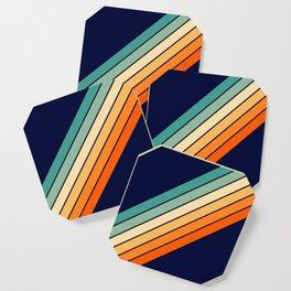Farida - 70s Vintage Style Retro Stripes Coaster