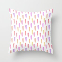 Bright watercolor pattern Throw Pillow