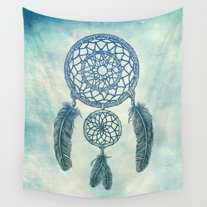 Double Dream Catcher Wall Tapestry