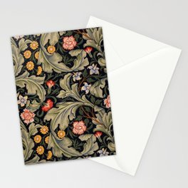 William Morris Laurel Multi-Colored Floral Textile Pattern Sunflower, Aster, Dahlia Stationery Cards