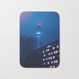Berlin TV Tower at Night Bath Mat