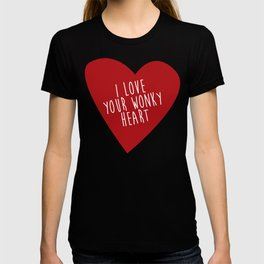 i love your wonky heart T-shirt