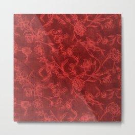 Flower Pattern (Red version) Metal Print