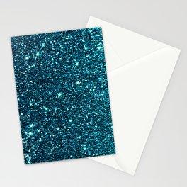 blue sparkle Stationery Cards