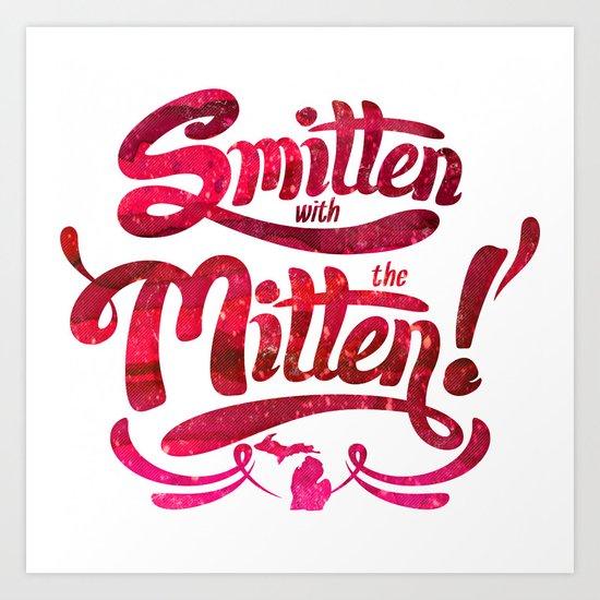 Smitten with the Mitten Art Print