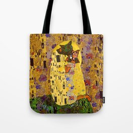 Kiss Klimt Cats Tote Bag