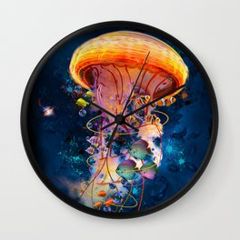 Electric Jellyish World Wall Clock